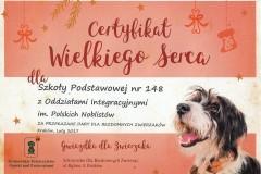 Certyfikat Wielkiego Serca marzec 2017