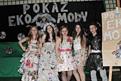 Pokaz EkoMody w gimnazjum maj 2017